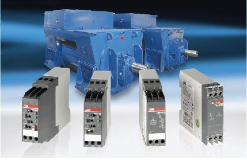 Электронные реле контроля : напряжения , тока , температуры двигателя, уровня жидкости , реле управления нагрузкой АББ