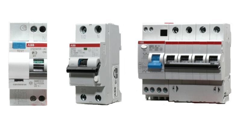 Дифференциальные автоматические выключатели ABB